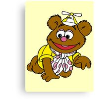 Muppet Babies - Fozzie Bear - Crawling Canvas Print