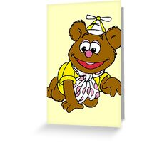 Muppet Babies - Fozzie Bear - Crawling Greeting Card