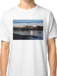 British Symbols and Landmarks - Cruising Under the Blackfriars Railway Bridge at Low Tide Classic T-Shirt