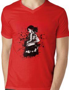 Ryuko Matoi Ink Splat Mens V-Neck T-Shirt