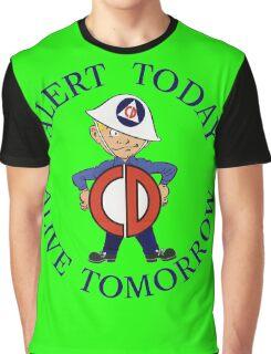 Mr Civil Defense Says... Graphic T-Shirt
