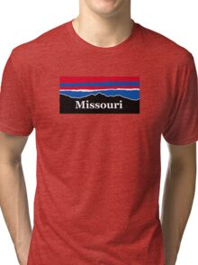 Missouri Red White and Blue Tri-blend T-Shirt