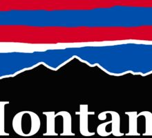 Montana Red White and Blue Sticker