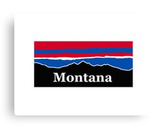 Montana Red White and Blue Canvas Print