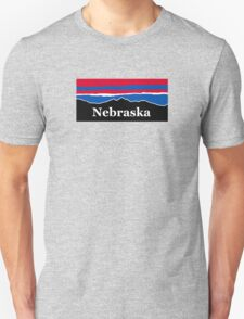 Nebraska Red White and Blue Unisex T-Shirt
