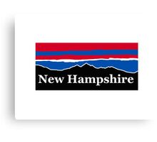 New Hampshire Red White and Blue Canvas Print