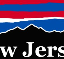 New Jersey Red White and Blue Sticker