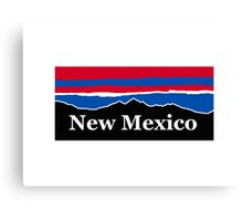 New Mexico Red White and Blue Canvas Print