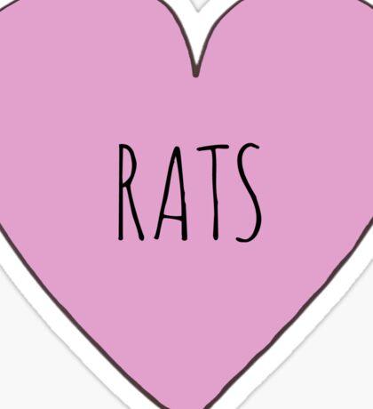 RAT LOVE Sticker