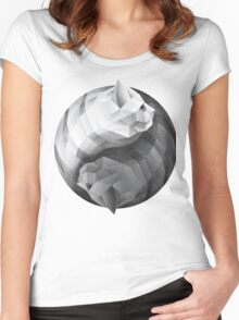 Catyang Women's Fitted Scoop T-Shirt