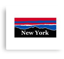 New York Red White and Blue Canvas Print