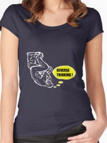 Reverse thinking  Women's Fitted Scoop T-Shirt