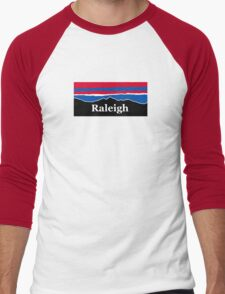 Raleigh Red White and Blue Men's Baseball ¾ T-Shirt