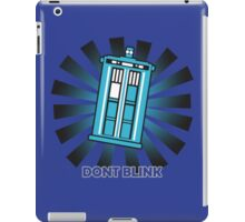 Dont blink funny nerd geek geeky iPad Case/Skin