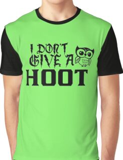 Don't Give a Hoot funny nerd geek geeky Graphic T-Shirt