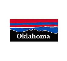 Oklahoma Red White and Blue  Photographic Print