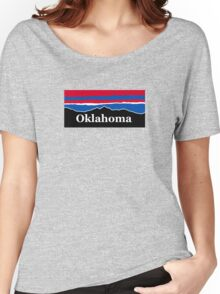 Oklahoma Red White and Blue  Women's Relaxed Fit T-Shirt