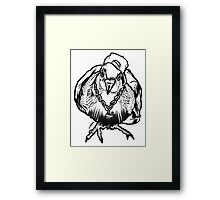 Homie Pigeon (Black & White) RedBubbleArtParty Framed Print