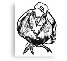 Homie Pigeon (Black & White) RedBubbleArtParty Canvas Print