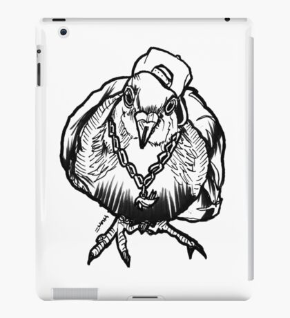 Homie Pigeon (Black & White) RedBubbleArtParty iPad Case/Skin