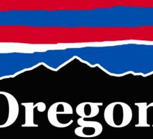 Oregon Red White and Blue Sticker