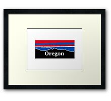 Oregon Red White and Blue Framed Print