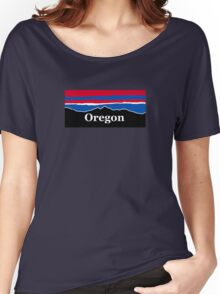 Oregon Red White and Blue Women's Relaxed Fit T-Shirt