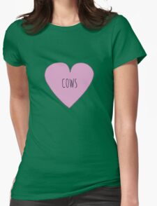 Cow Love Womens Fitted T-Shirt