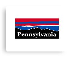 Pennsylvania Red White and Blue Canvas Print