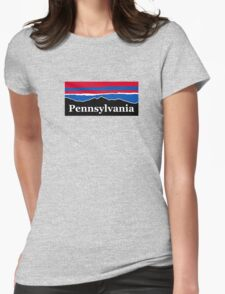Pennsylvania Red White and Blue Womens Fitted T-Shirt