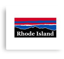 Rhode Island Red White and Blue Canvas Print