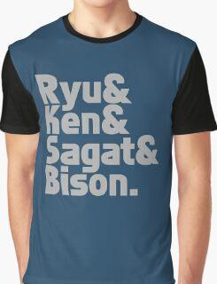 Ryu & Ken & Sagat & Bison funny nerd geek geeky Graphic T-Shirt