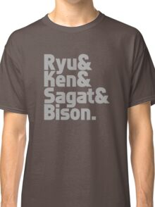 Ryu & Ken & Sagat & Bison funny nerd geek geeky Classic T-Shirt