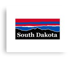 South Dakota Red White and Blue Canvas Print
