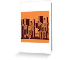 Cat in the Big City Greeting Card