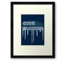 Code Blooded Framed Print