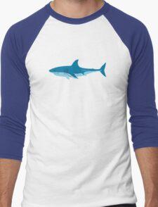 Shark Surfer funny nerd geek geeky Men's Baseball ¾ T-Shirt