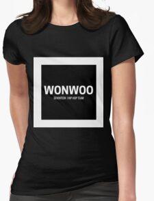 Seventeen Wonwoo (Black BG) Womens Fitted T-Shirt