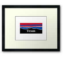 Texas Red White and Blue Framed Print
