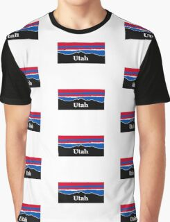 Utah Red White and Blue Graphic T-Shirt