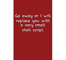 Shell Script funny nerd geek geeky Photographic Print