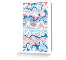 Red/Blue Marble Greeting Card