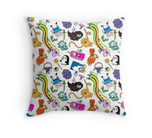 Cute Adventure time pattern! Throw Pillow