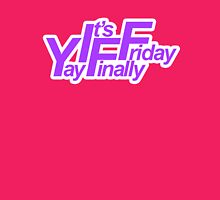 Yay It's Finally Friday (Purple) Womens Fitted T-Shirt