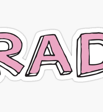 RAD Sticker Sticker