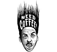 Need Coffee! Long Black version Photographic Print