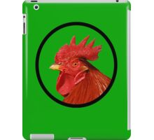 Rooster on green iPad Case/Skin