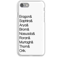 Character List Eragon iPhone Case/Skin