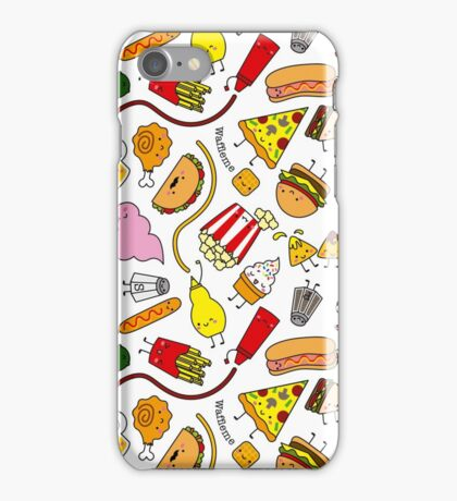 Kawaii junk food pattern! iPhone Case/Skin