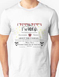 Simon Lewis Quote- The Mortal Instruments Unisex T-Shirt